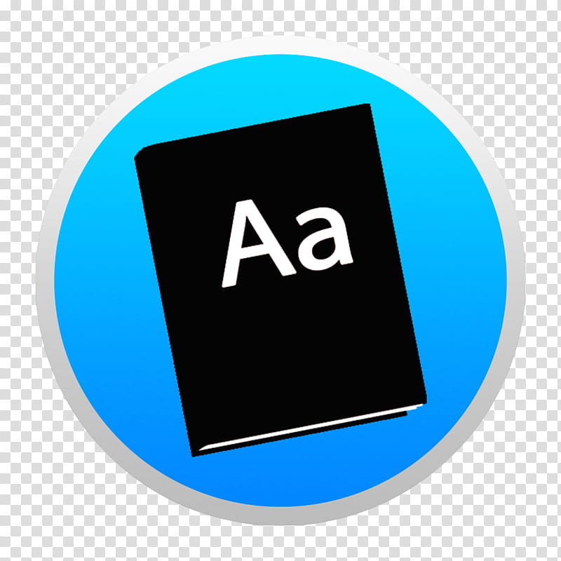 Black And Colorful Yosemite Style Icons, Blue Dictionary W.