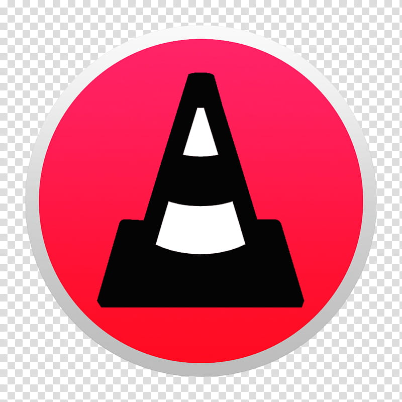 Black And Colorful Yosemite Style Icons, Red VLC W: BG.