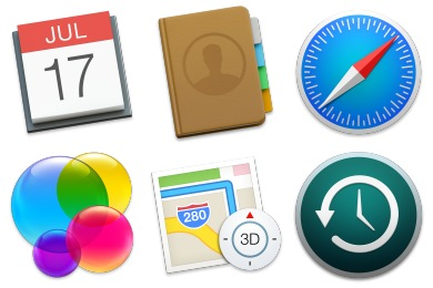 OS X Yosemite Preview Iconset (21 icons).