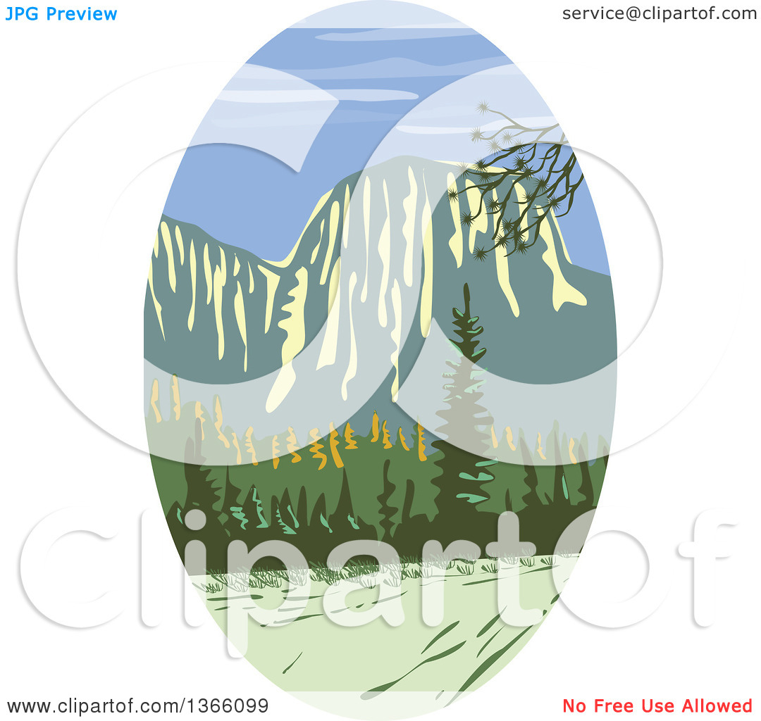 Yosemite National Park Clip Art: Yosemite National Park Clipart