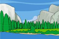 Yosemite National Park Clipart.