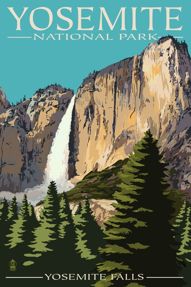 Yosemite National Park Clipart.