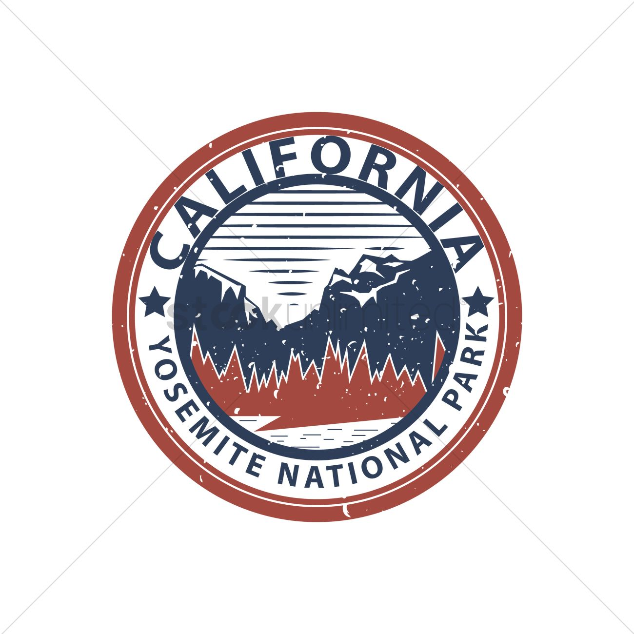 Yosemite national park Vector Image.