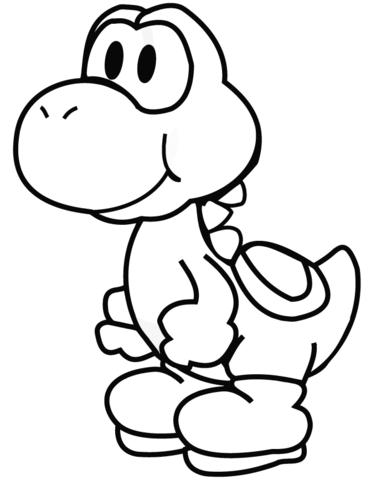 Yoshi coloring page.