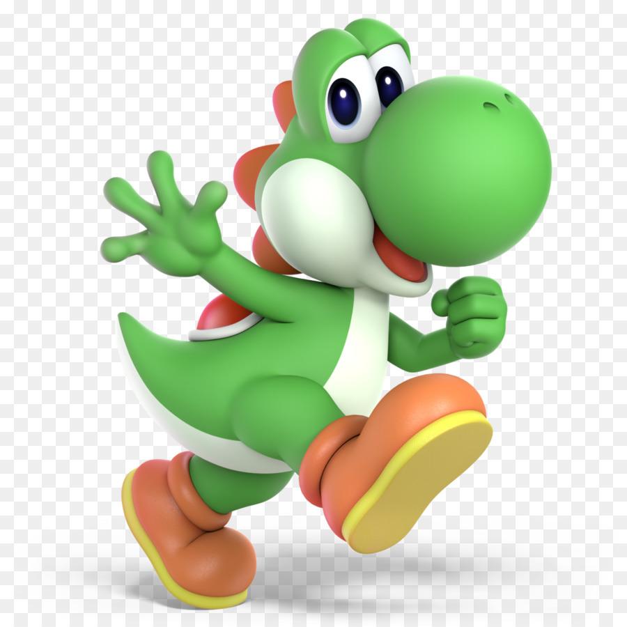 Mario Yoshi Green png download.