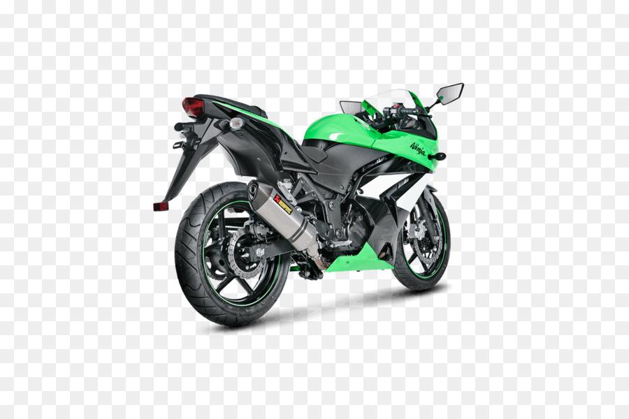 Exhaust system Kawasaki Ninja 250R Akrapovič Motorcycle.