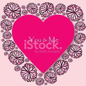 Valentine\'s Day you and me card Clipart Image.