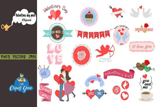 Valentine clipart, valentine clip art, boy and girl clipart.