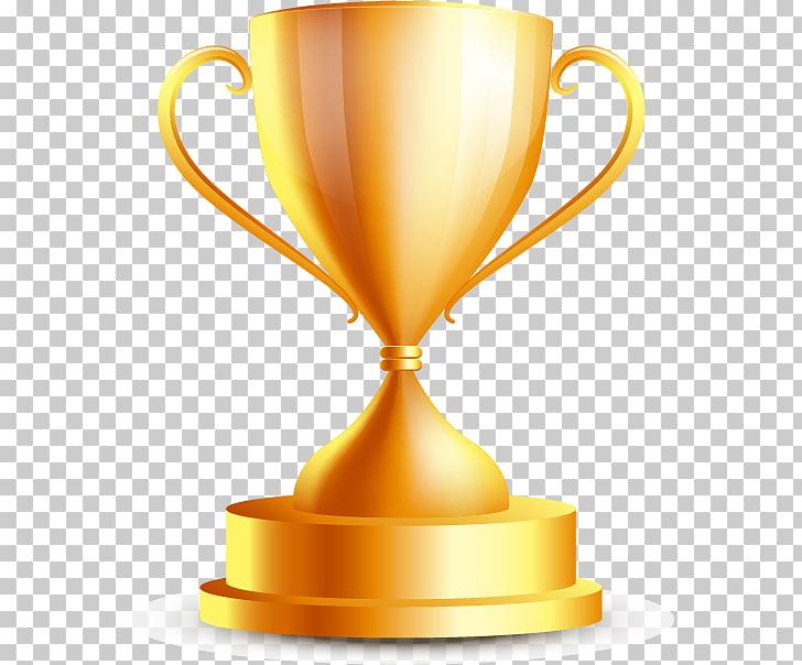 Gold medal Trophy Champion, Cup, gold trophy illustration.