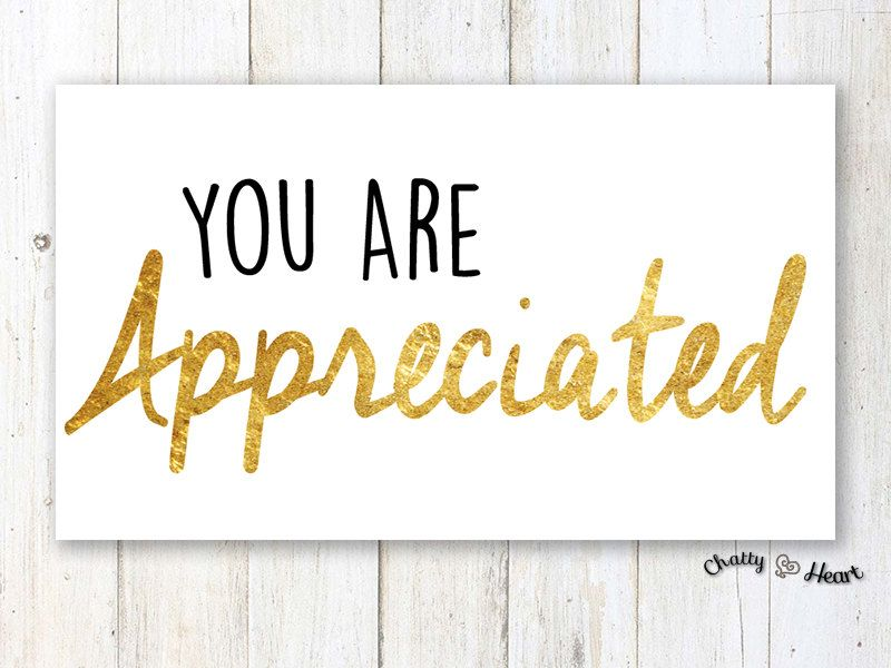 Just Because Card You Are Appreciated.