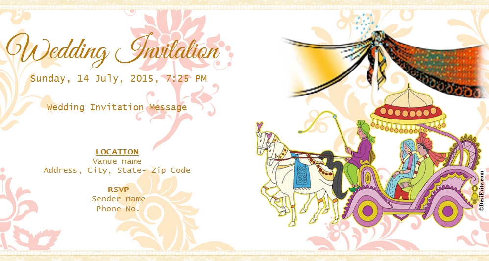 You and your associates are cordially invited for Wedding.