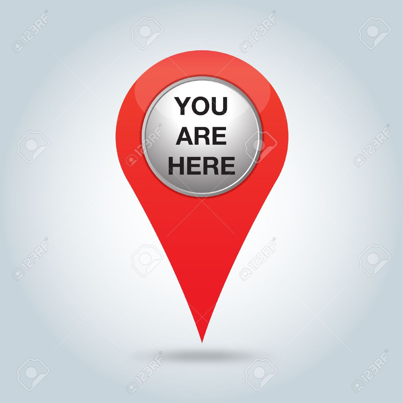 red pointer, you are here.