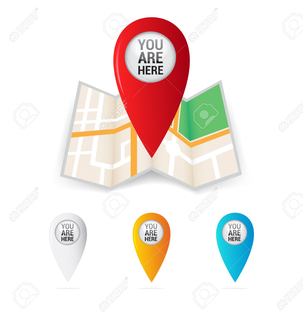 You Are Here Map Locator Royalty Free Cliparts, Vectors, And Stock.