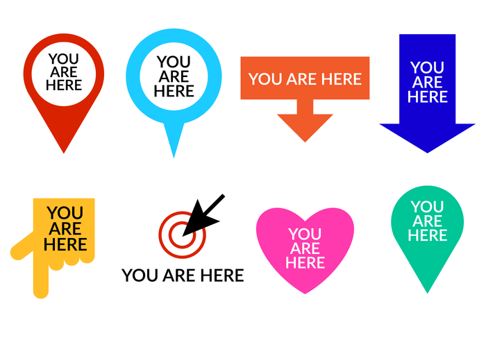 Download Free png Set Of You Are Here Symbol Ve.