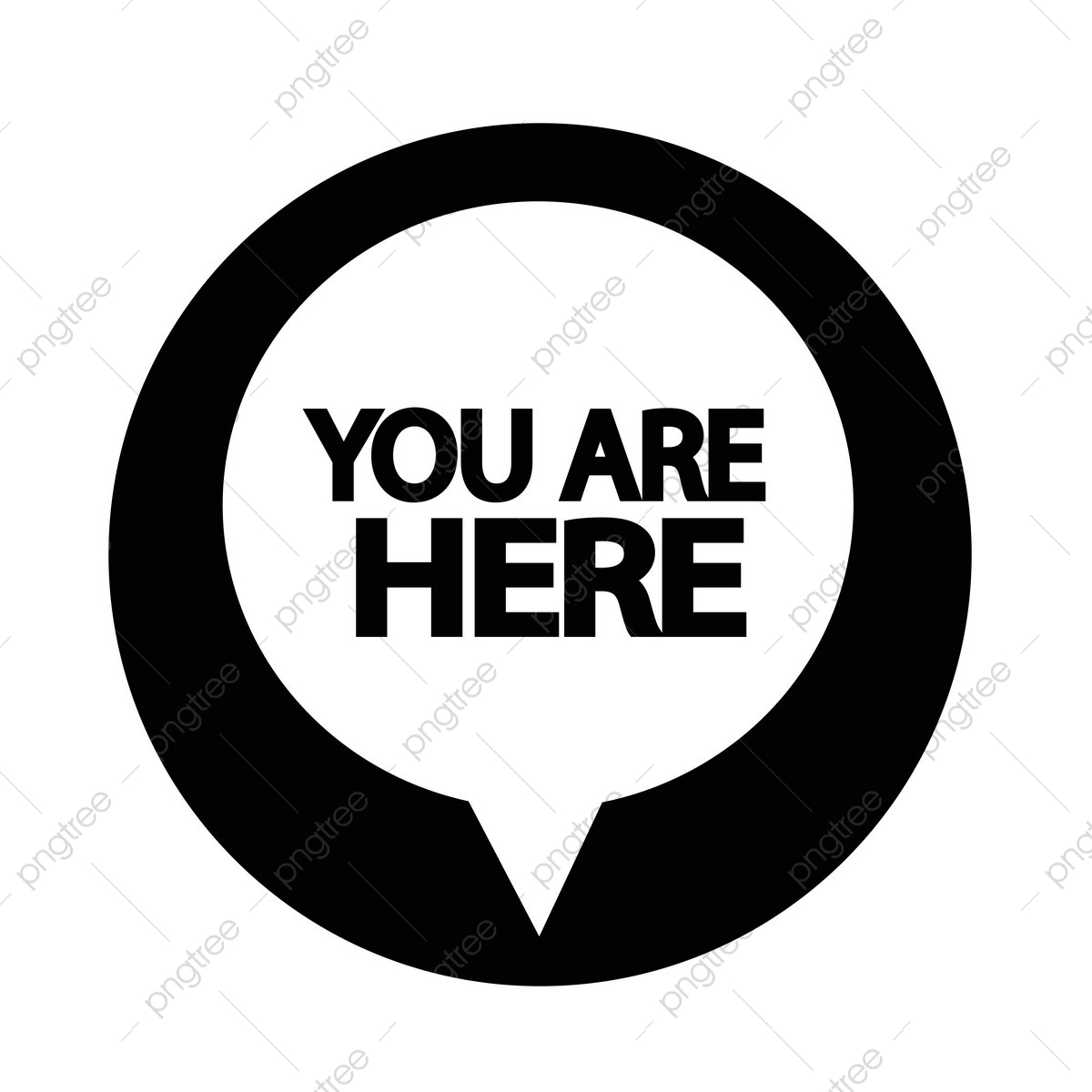 You Are Here Icon, Here, You, Sign PNG and Vector with Transparent.