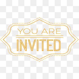 You Are Invited PNG Images.