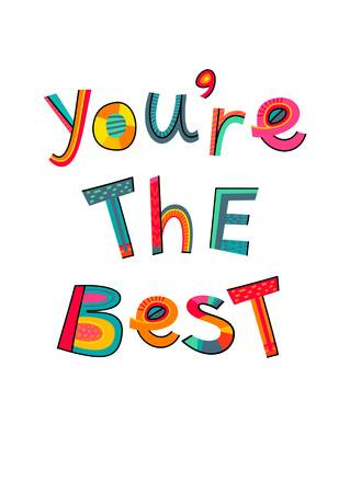 6,863 You Are The Best Cliparts, Stock Vector And Royalty Free You.