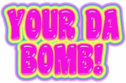 Ba Ff Cee Da Bomb Clipart You Are The Bomb Clipart GIF.