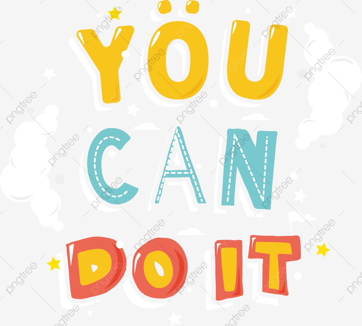 You Can Do It Illustrates Vector Illustration, Can Clipart.