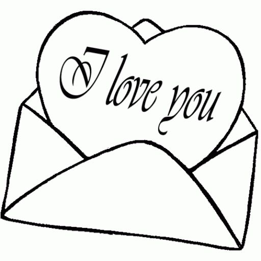 I love you love you clipart black and white clipartfest.