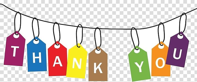 Thank you transparent background PNG clipart.