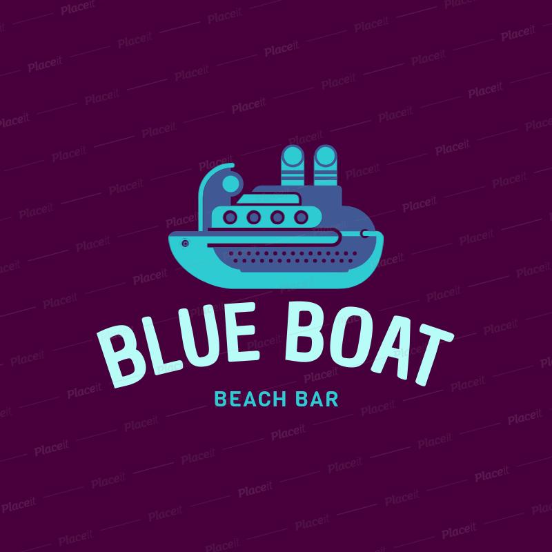 Beach Bar Logo Maker Featuring a Cruise Ship Clipart 1760m 138.