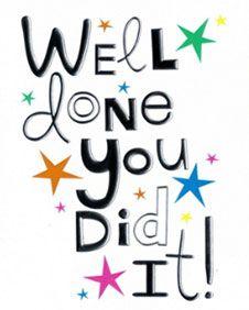 Congratulations you did it clipart.