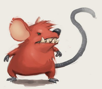 Scary Rat Clipart.