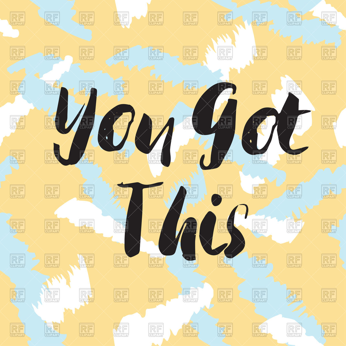 You got this lettering quote Stock Vector Image.