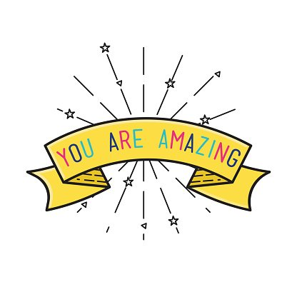You are amasing Inspirational vector illustration.