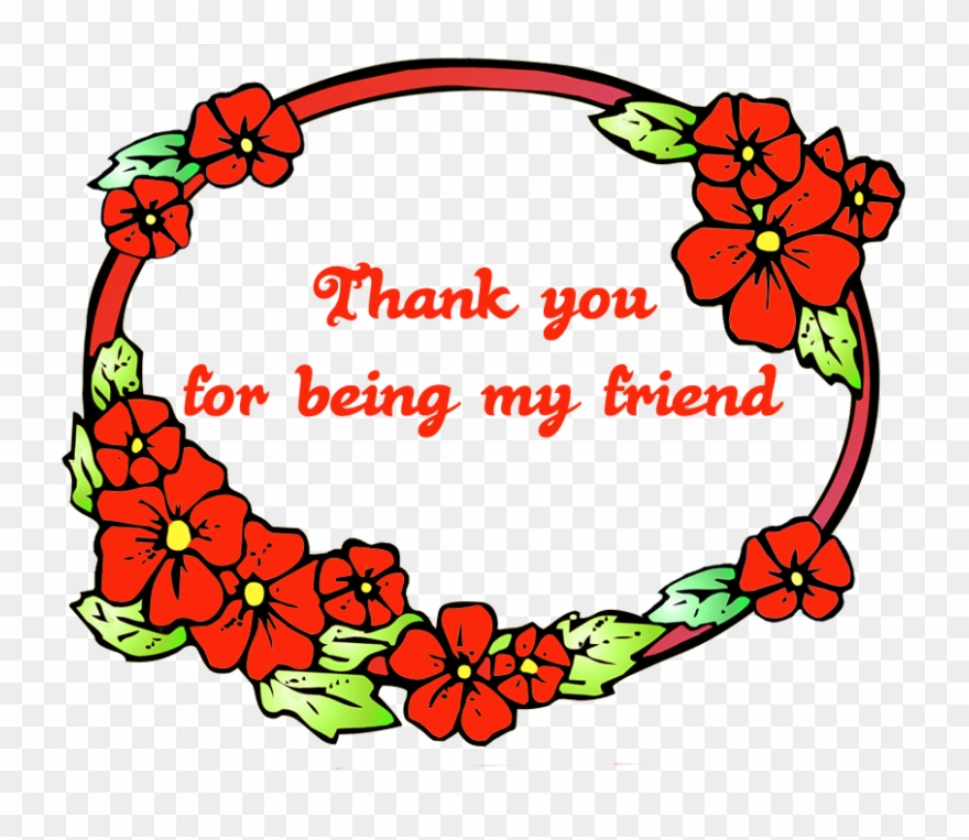 Thank you for being a friend clipart Transparent pictures on.