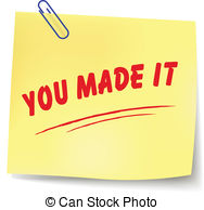 Vector you made it message illustration Vector Clipart.