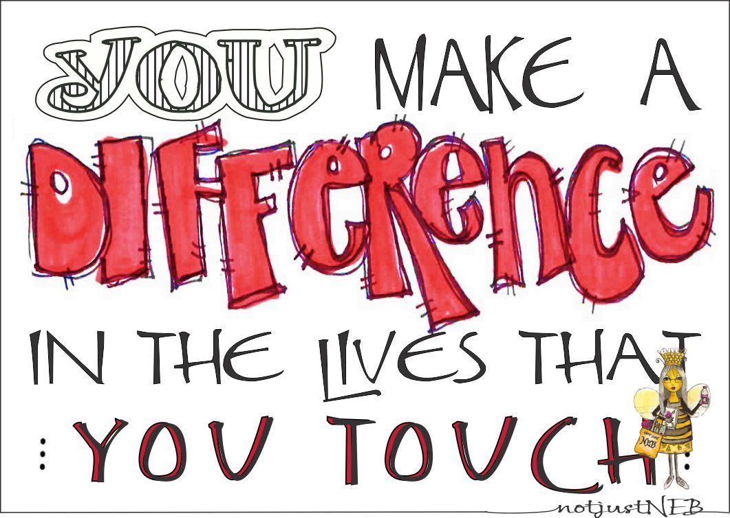 Make a Difference Clip Art.