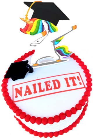 Unicorn Graduation Cake.