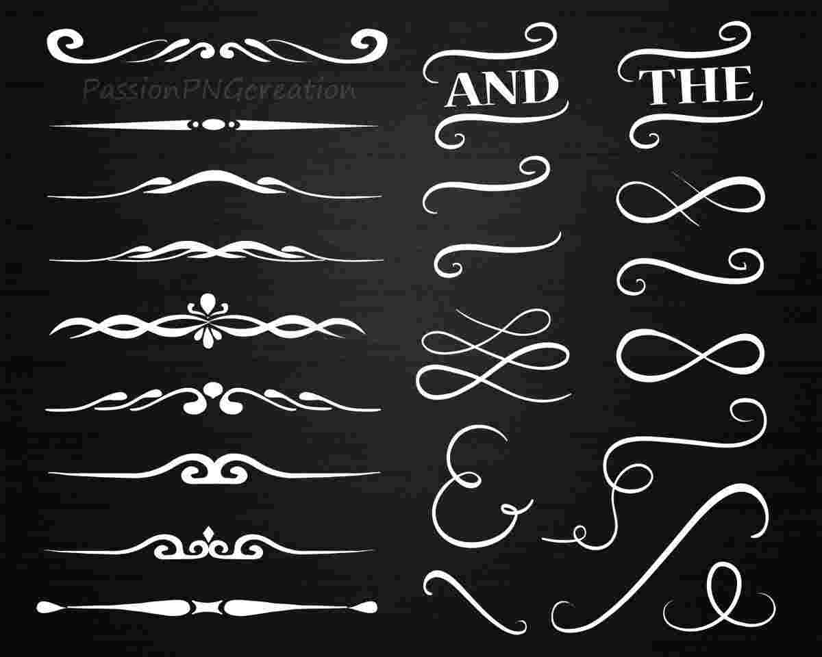 Cliparts Library: Black Chalkboard Font Clipart.