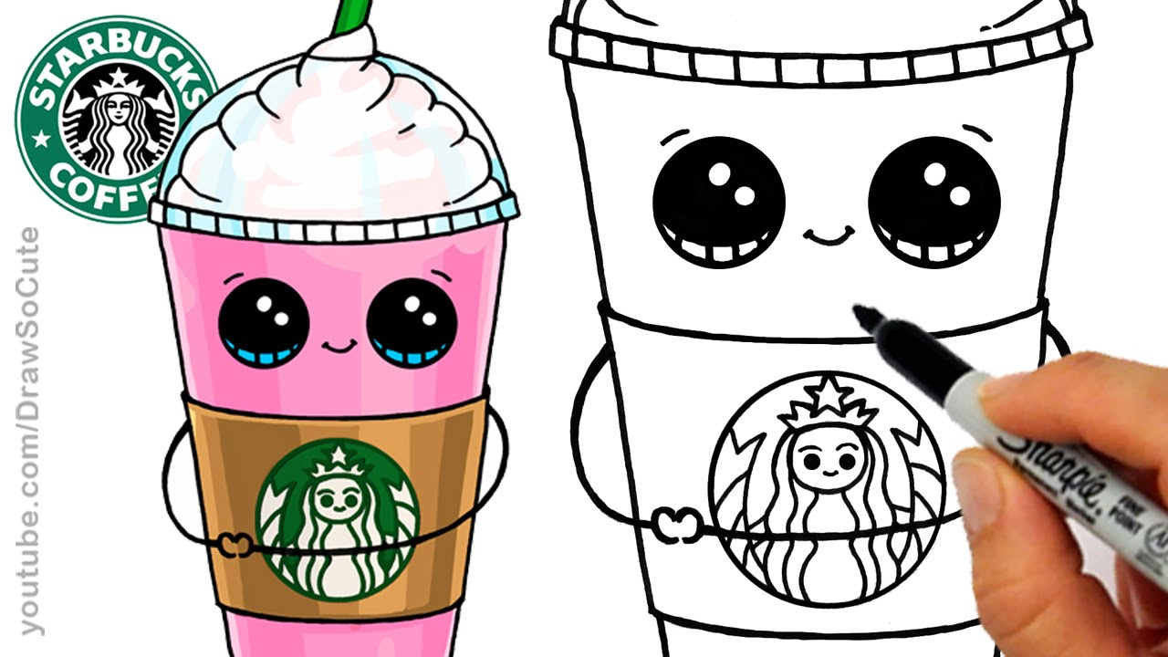 How to Draw a Starbucks Frappuccino Cute.