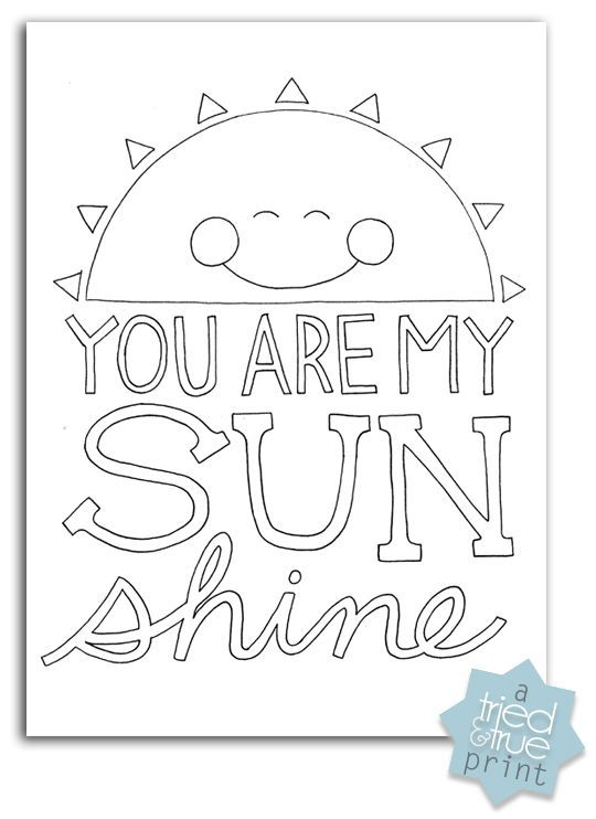 Thinking Of You Printable Coloring Pages.