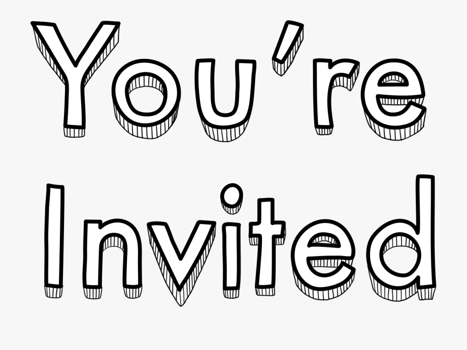 You Re Invited Transparent, Cliparts & Cartoons.