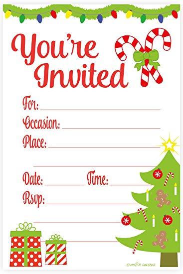 invitation christmas.