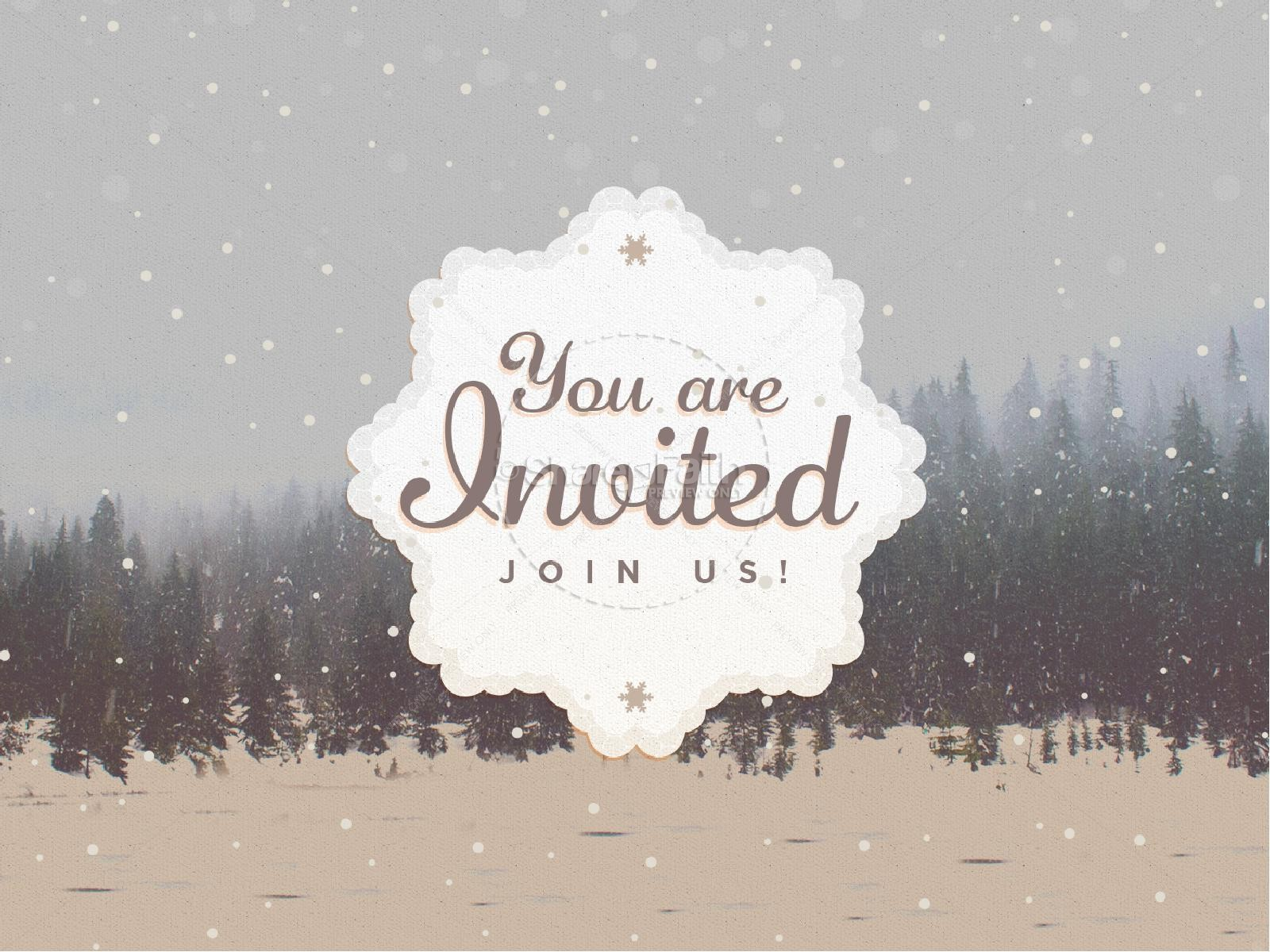 You Are Invited To Christmas PowerPoint.