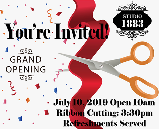 Grand Opening and Ribbon Cutting at Studio 1883, New Albany.