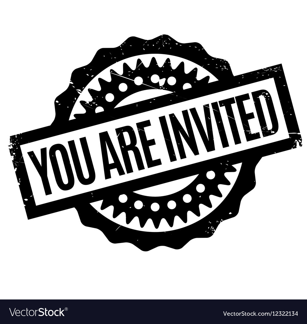 You Are Invited rubber stamp.