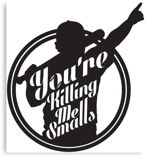 \'You\'re Killing Me Smalls Baseball Sandlot MLB Sports\' Canvas Print by  JRoseGraphics.