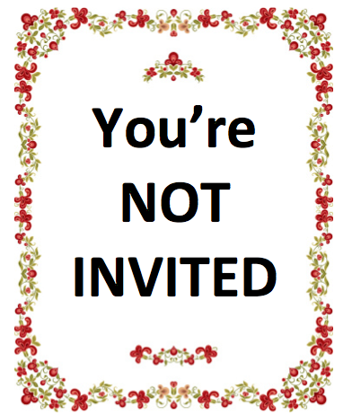 Weird wedding trend: Telling someone not to save the date.