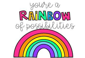 Unicorn & Rainbow Posters.
