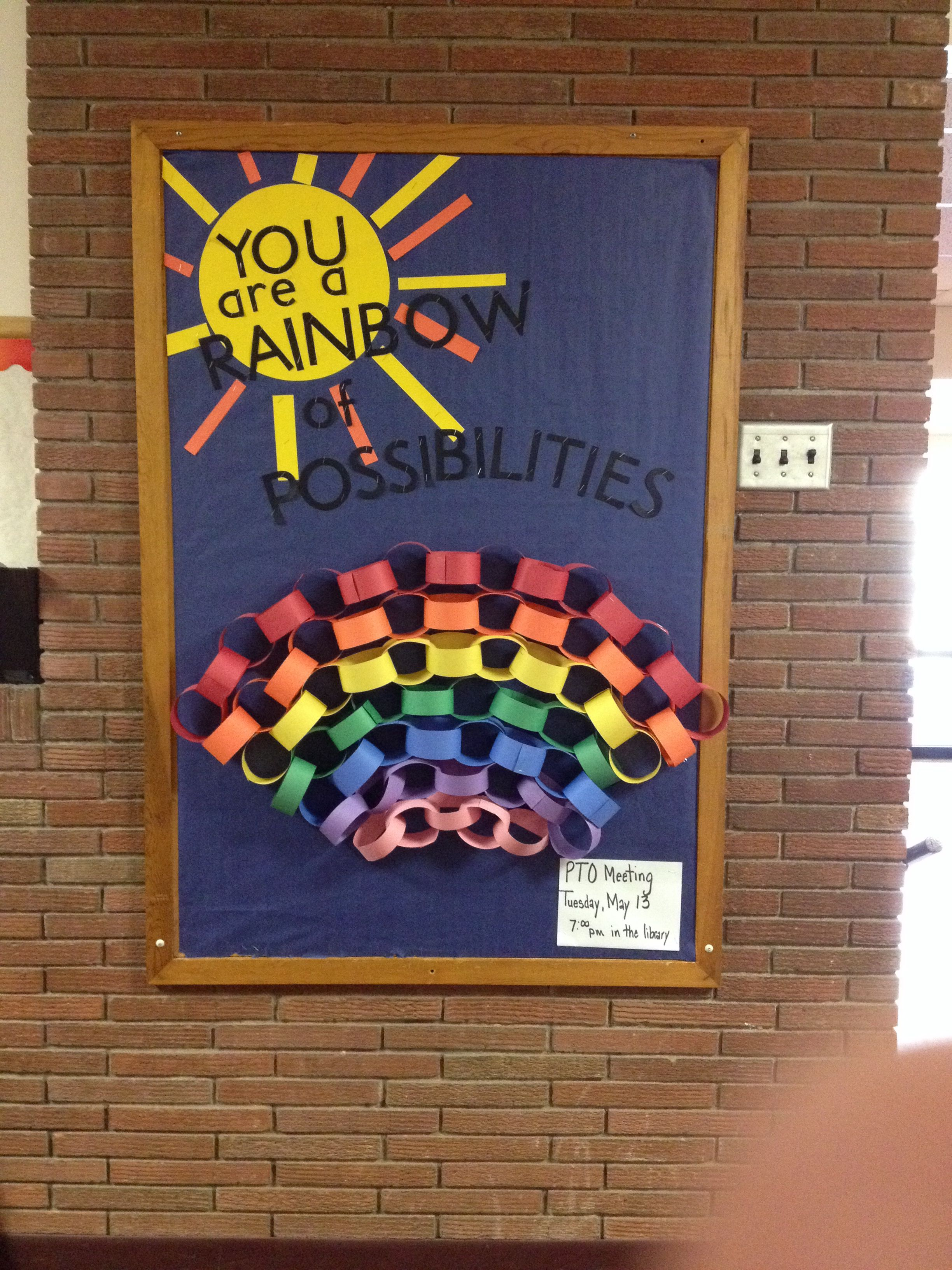 YOU are a rainbow of possibilities! LOVE THIS SAYING.