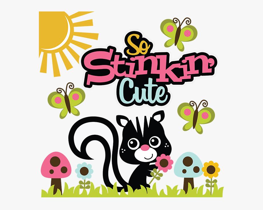 So Stinkin&cute Svg Skunk Svg File Flower Svg File.