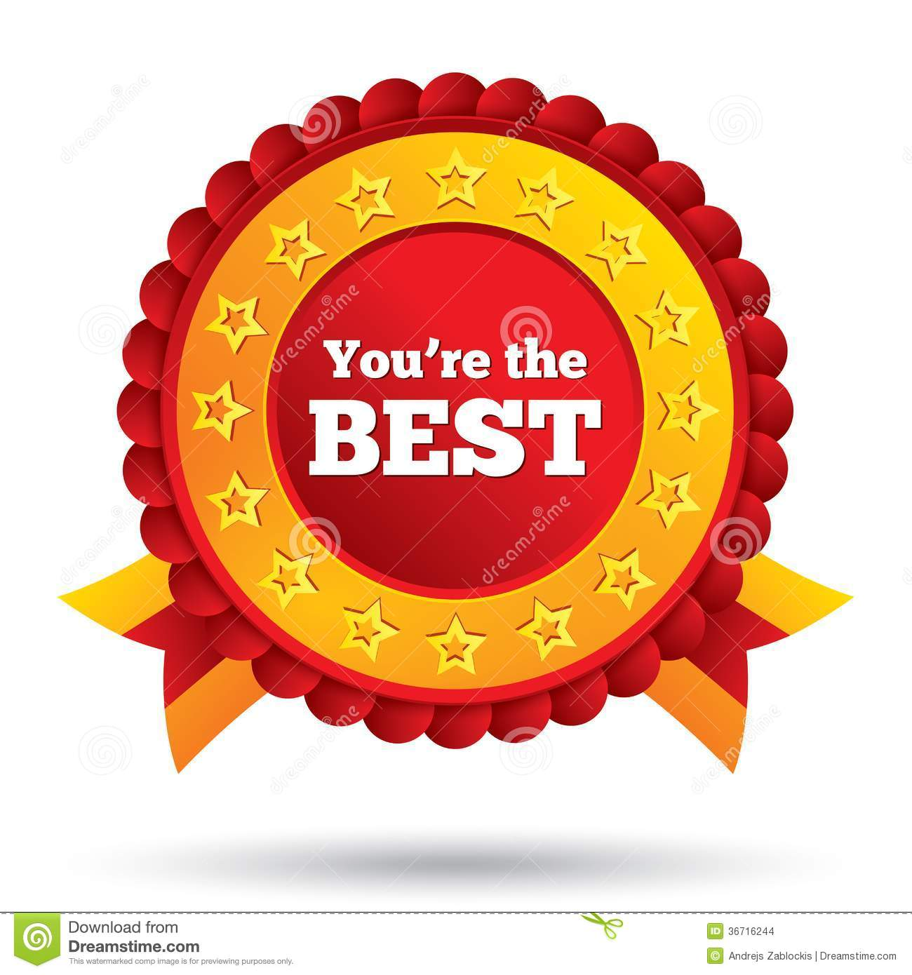 You Are The Best Icon. Customer Service Award. Stock Images.