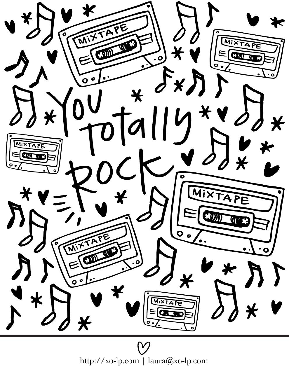 FREE You Totally Rock Printable — XO.