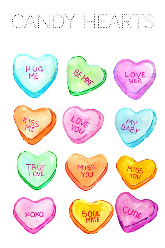Heart Clipart Valentines Day Clipart Candy by WriteLovely.